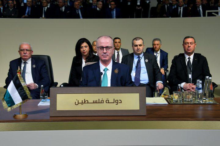 الحمدالله خلال مشاركته في القمة العربية الاقتصادية ببيروت