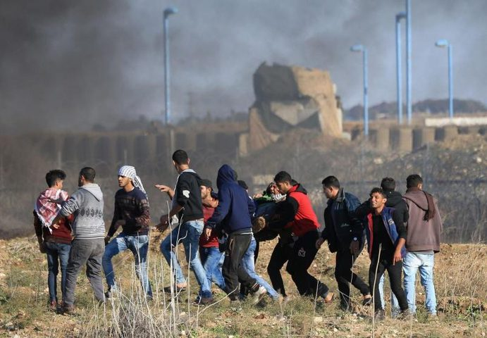 إصابة مواطن برصاص الاحتلال شرق دير البلح