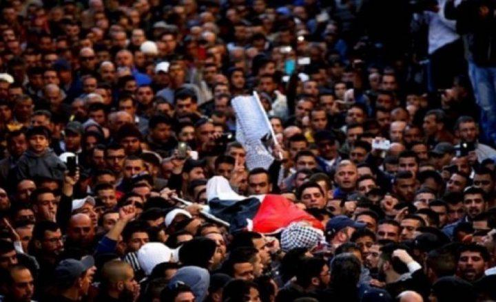 تشيع الشهيد محمود النباهين في غزة