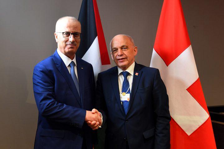 بحث رئيس الوزراء د.رامي الحمدالله مع الرئيس السويسري أولي ماورر تعزيز التعاون، خاصة التعاون الاقتصادي، وذلك من خلال إنشاء لجنة اقتصادية مشتركة.