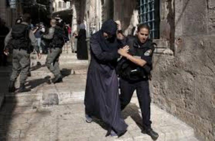 الاحتلال يعتقل فلسطينية بعد مطاردتها بالأقصى
