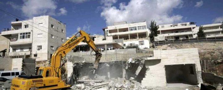 الاحتلال يقرر هدم منزل في بلدة سلوان
