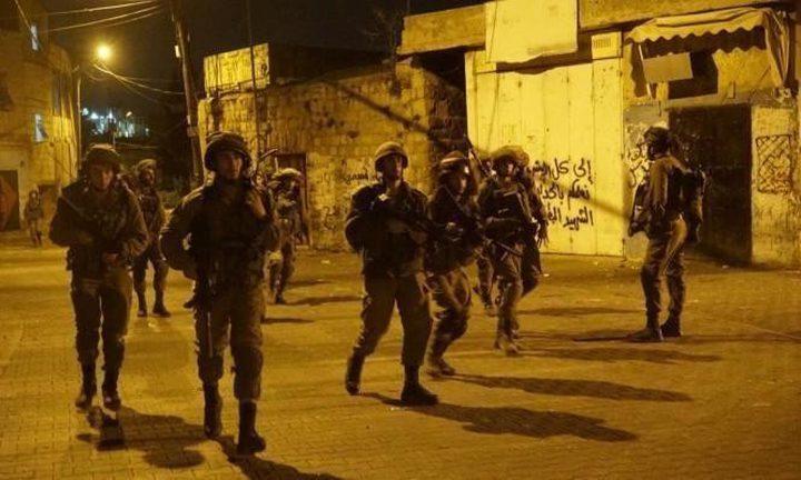 الاحتلال يعتقل (12) مواطنًا من الضفة الغربية