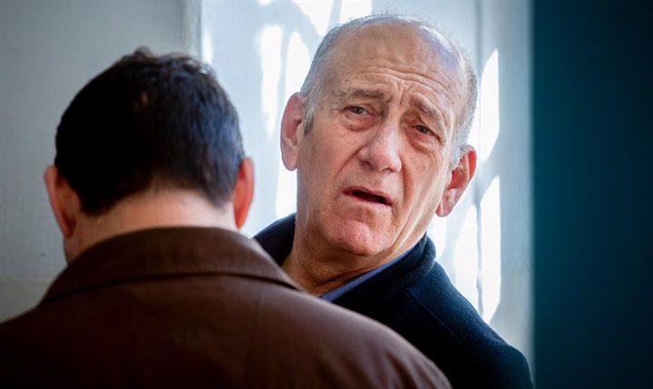 """""""أولمرت""""يهاجم """"نتنياهو""""..ويتمنى الفوز لمنافسيه في الانتخابات"""