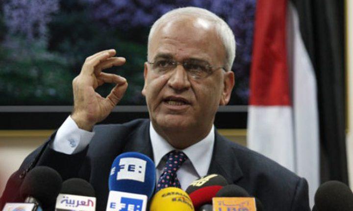 عريقات: يجب البدء بتنفيذ القرارات المتعلقة بإسرائيل وأمريكا