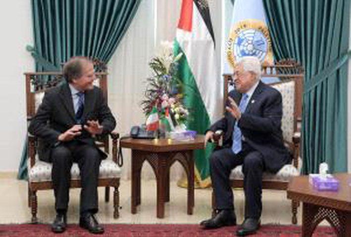 الرئيس يستقبل وزير الخارجية الايطالي