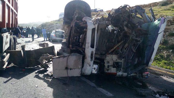 إصابات خطيرة في حادث سير مروع في تقوع