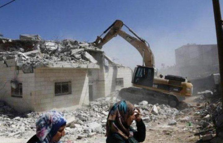 تقرير أممي - 20 مبنى هدمت خلال أسبوعين في الضفة الغربية