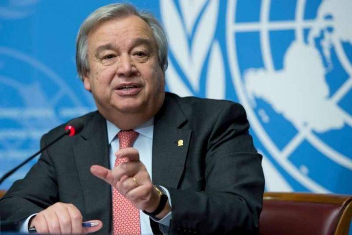 الأمين العام للأمم المتحدة: نواصل العمل لضمان حماية الفلسطين