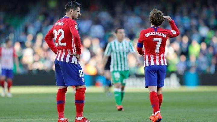 الدوري الإسباني.. أتلتيكو مدريد يسقط في فخ ريال بيتيس