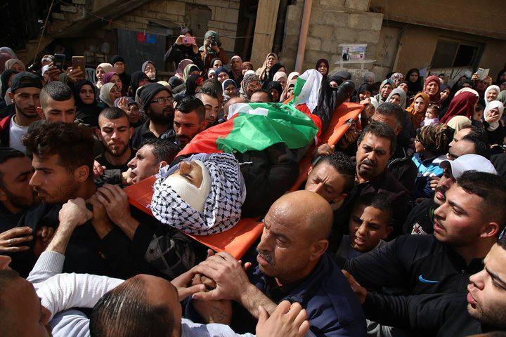 تشييع جثمان الشهيد عبد الله فيصل طوالبة (20 عاما) في بلدة الجلمة
