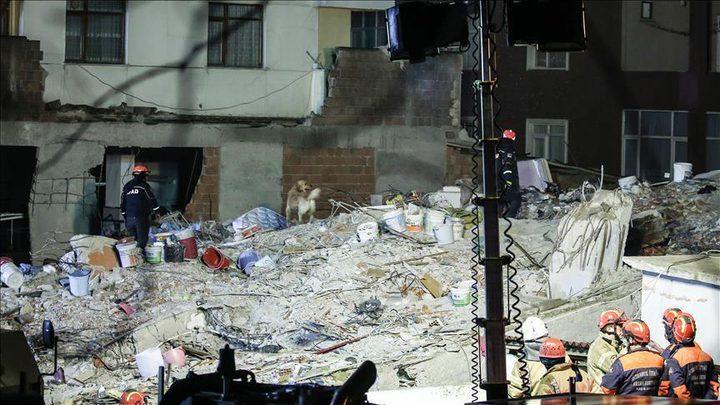 مصرع 10 أشخاص في انهيار أحد مباني إسطنبول
