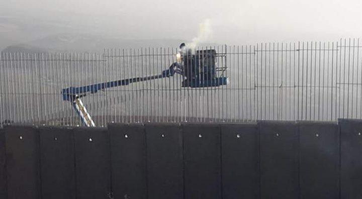 الاحتلال يستأنف العمل بالجدار  على حدود لبنان