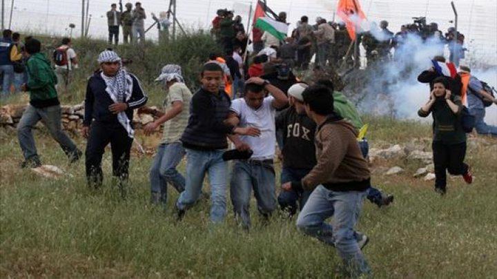 إصابات خلال قمع الاحتلال لمسيرة نعلين الأسبوعية