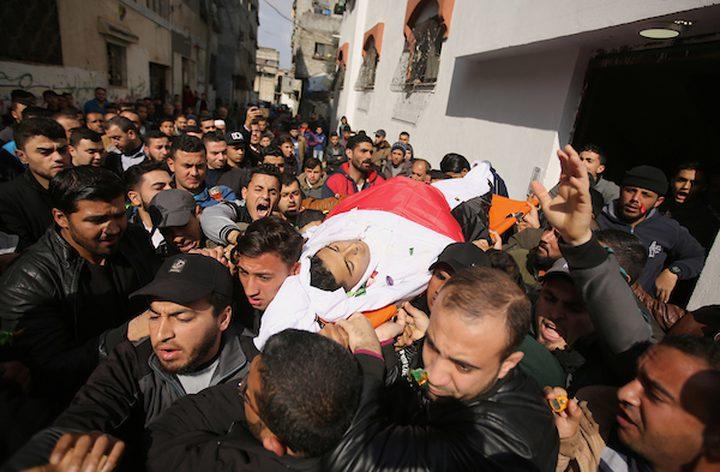 تشييع جثماني الشهيدين اشتيوي وشلبي من غزة