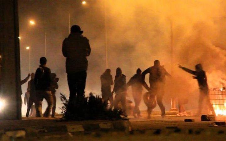 مواجهات مع الاحتلال على مدخل مخيم العروب