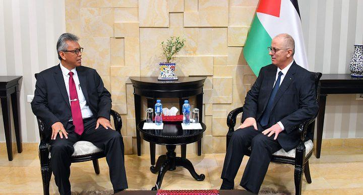 الحمد الله يبحث مع السفير الاندونيسي تعزيز التعاون المشترك