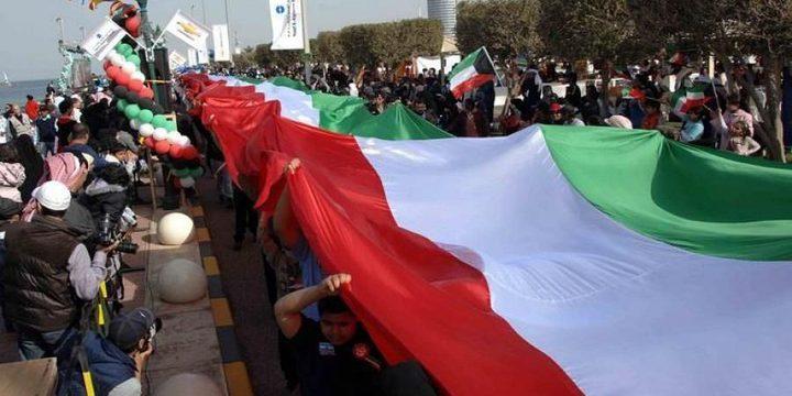 """الكويت تدخل موسوعة """"جينيس"""" بأطول علم في العالم!"""