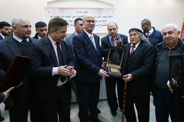 رئيس الوزراءد.رامي الحمد الله خلال افتتاح مركز الطوارئ في بيرنبالا، بمحافظة القدس.