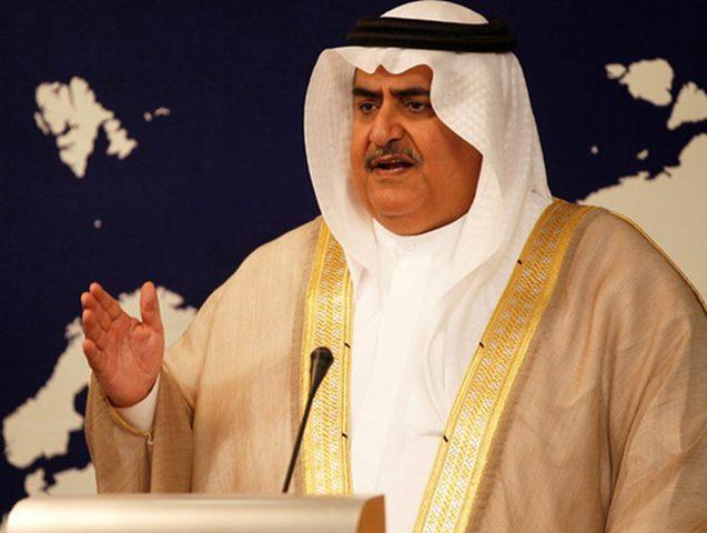 وزير الخارجية البحريني:مواجهة إيران أهم من القضية الفلسطينية