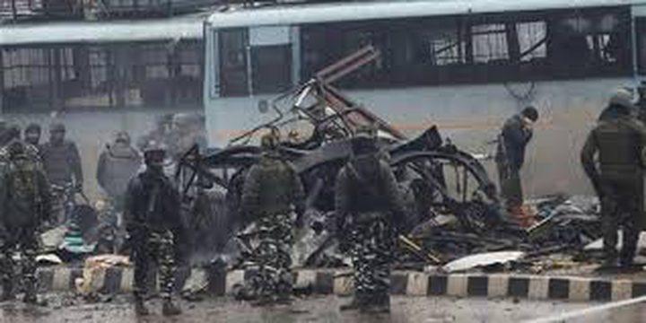 الرئاسة تدين التفجير الذي استهدف قافلة للشرطة الهندية
