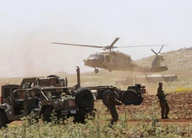قوات الاحتلال تجري تدريبًا واسعًا لسلاح المدرعات