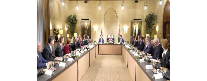 """الملك عبد الله يؤكد على """"حل الدولتين"""""""