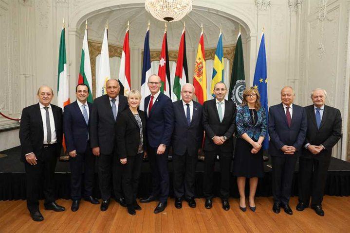 وزراء خارجية عرب وأجانب يجتمعون في إيرلندا للتشاور بشأن فلسطين