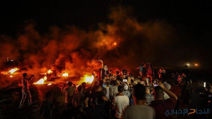 """قصف جوي شرق البريج واصابات في صفوف شبان """"الإرباك الليلي"""" """""""