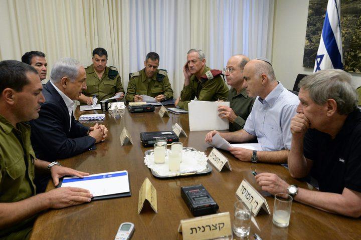"""فضائية كان العبرية: إلغاء اجتماع كابينيت الاحتلال المقرر """"الأحد"""""""