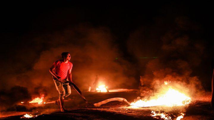5 اصابات في خانيونس بفعاليات الارباك الليلي