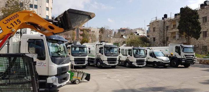 بلدية رام الله تحدث الآليات والشاحنات بتمويل ذاتي