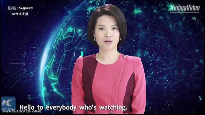 """الصين تكشف عن أول """"مذيعة روبوت"""""""