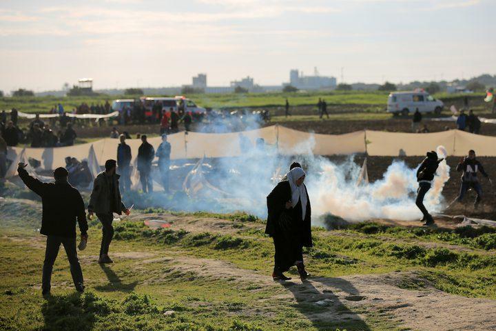 """جمعة جديدة من مسيرات العودة وكسر الحصار شرق قطاع غزة بعنوان: """"الوفاء لشهداء مجزرة الحرم الإبراهيمي"""""""