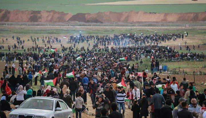 إصابات خلال قمع الاحتلال للمسيرات السلمية شرق غزة