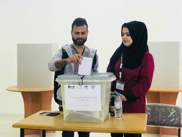 انتخاب الصحفيين الشباب في الجامعات الفلسطينية