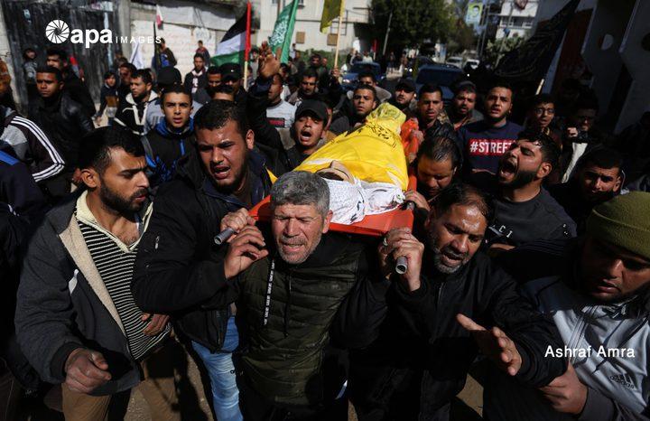غزة تشيع الشهيد الطفل يوسف الداية
