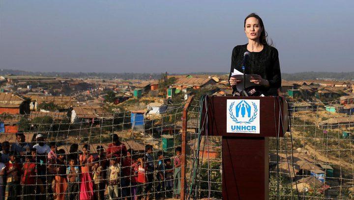 أنجلينا جولي زارت مخيمات الروهينغا في بنغلاديش