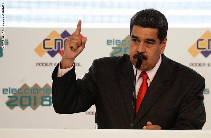 """رئيس فنزويلا يواجه """"حصارا دبلوماسيا"""" بعد منع دخول المساعدات"""