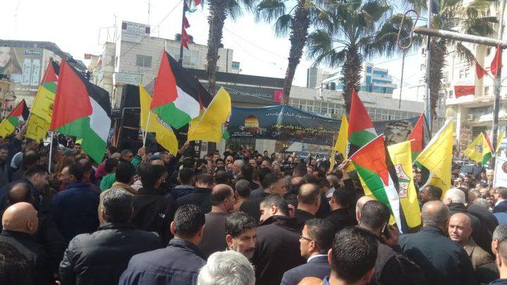 الآلاف يشاركون بمسيرات المبايعة للرئيس برام الله ونابلس