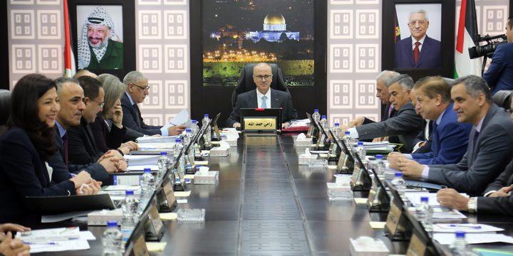 مجلس الوزراء يدعو للاصطفاف خلف الرئيس محمود عباس