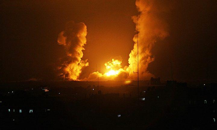 طيران الاحتلال يقصف موقعاً للمقاومة جنوب قطاع غزة
