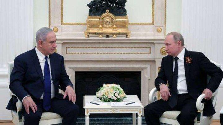بوتين يناقش مع نتنياهو اليوم الوضع في المنطقة