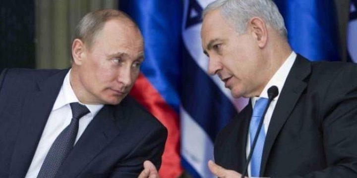 """نتنياهو يبدي لبوتن قلقه من """"التهديد الإيراني"""""""