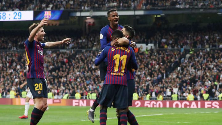 برشلونة يسحق ريال مدريد بثلاثية نظيفة