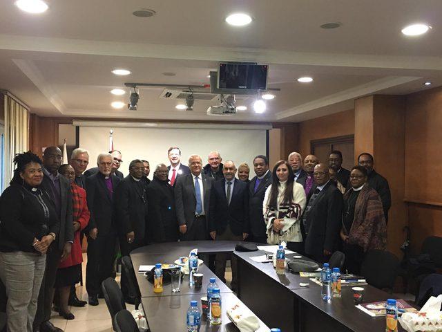 اللجنة الرئاسية تستقبل وفد كنائس من أجل سلام الشرق الأوسط
