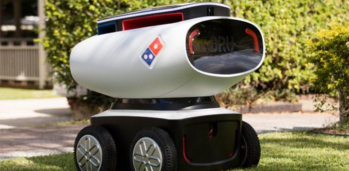 تطوير روبوت خاص بإيصال البيتزا حتى باب منزلك