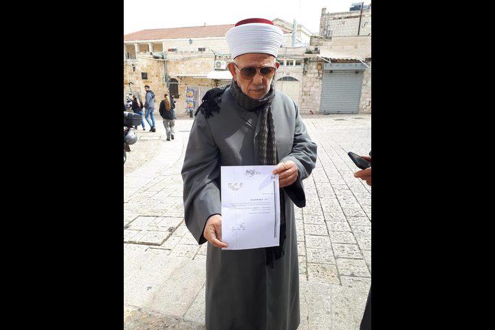 قرار من الاحتلال بإبعاد رئيس مجلس أوقاف القدس