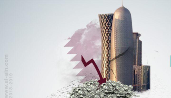 هبوط حاد في الودائع المالية القطرية