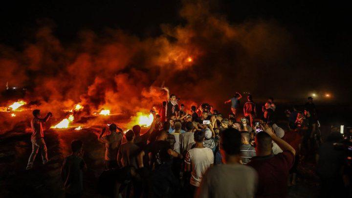 """3 إصابات برصاص الاحتلال خلال فعاليات """"الإرباك الليلي"""" شمال القطاع"""